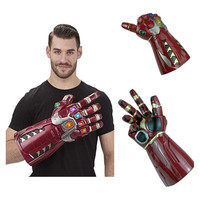 New Infinity Gauntlet The Avengers Superhero Iron Man Cosplay Gloves Thanos LED Glove PVC Snap Mittens Child Adult Halloween Toy