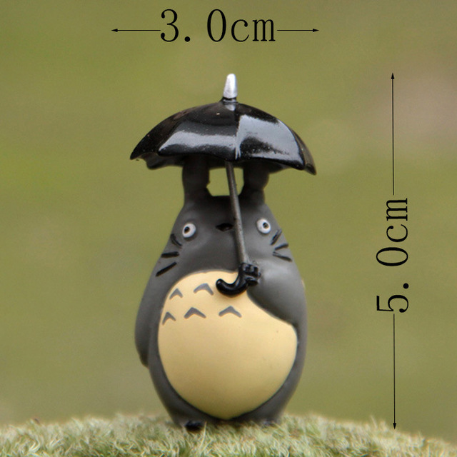 5cm Mini Totoro figure with umbrella toy 2016 New my neighbor totoro action figurens doll juguete Christmas gift party decor