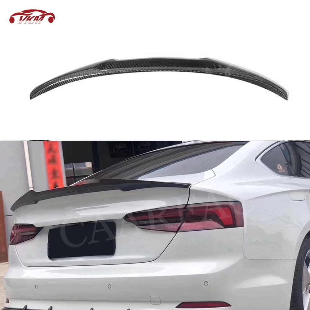 For A5 Carbon Fiber Rear Spoiler Wings for Audi A5 S5 Sedan Coupe Spoiler 2017 2018 2019 M4 Style image