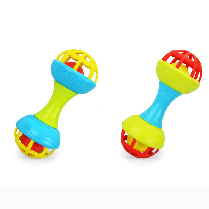 New Bearoom Baby Rattles Mobiles Fuuny Baby Toys Intelligence Grasping Gums Soft Teether Plastic Hand Bell Hammer Kids Gift in Baby Rattles Mobiles from Toys Hobbies