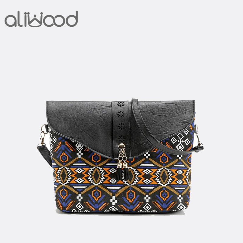 Aliwood 2018 New printing Women bag Summer handbags Sweet Lady Hollow Out Messenger Bags PU leather Crossbody bags Shoulder Bags free shipping holbein artists 15 color solid watercolor paint solid gold box professional level incidental paintbrush