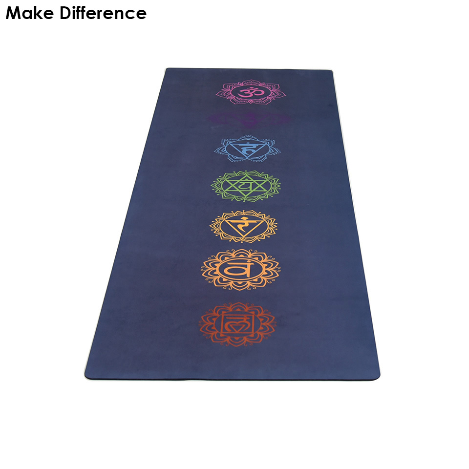 Make Difference Chakras Printed Natural Rubber Yoga Mat Potable Carpet Mat for Fitness Outdoor Yoga Pilates Mat 183cm*61cm*3.5mm yoga pilates mat pu 5mm for beginners and seniors widened workout yoga pilates gym exercise fitness gym mat