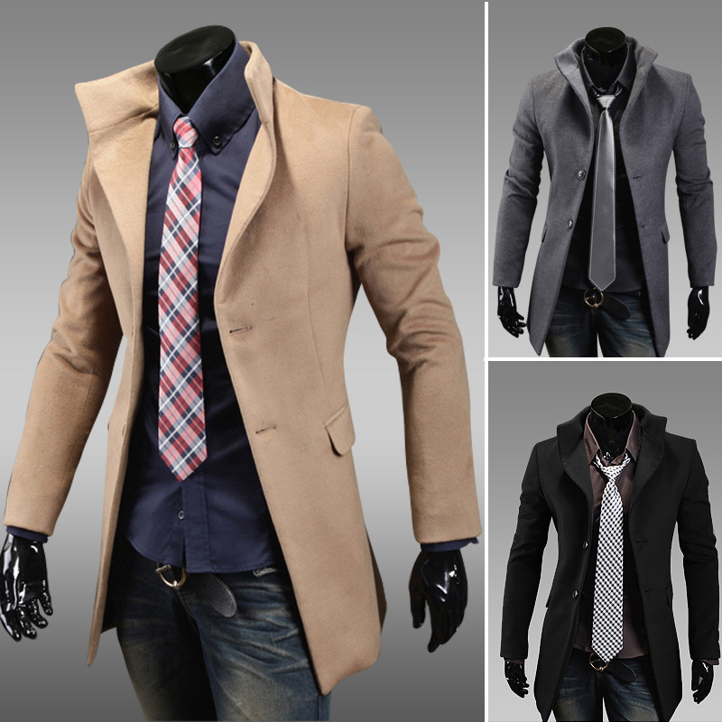 Online Shop 2015 Men's winter coat Korean version of the Slim long ...