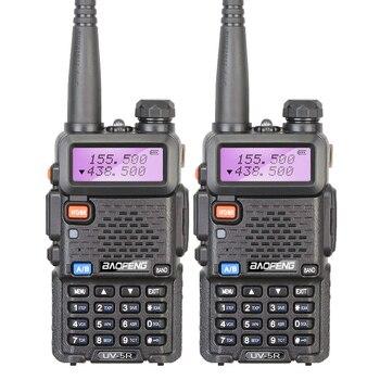 Original 2 Pcs Baofeng UV 5R Walkie Talkie Portable Radio UHF&VHF UV-5R 5W Interphone Comunicador Two Way Radio Comunicator