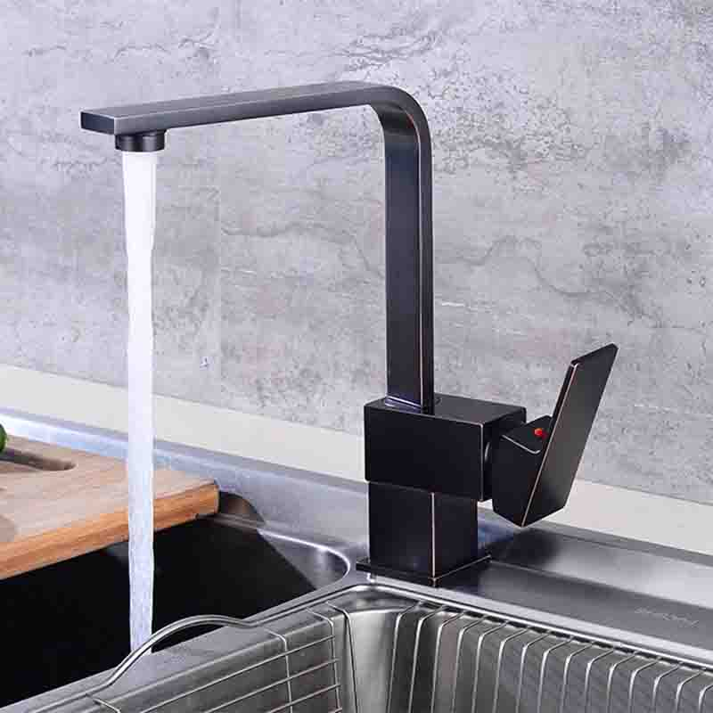 BAKALA Kitchen Faucet l kitchen Sink Mixer Tap Black kitchen faucet Cold hot water kitchen faucet G-8054R sink faucet