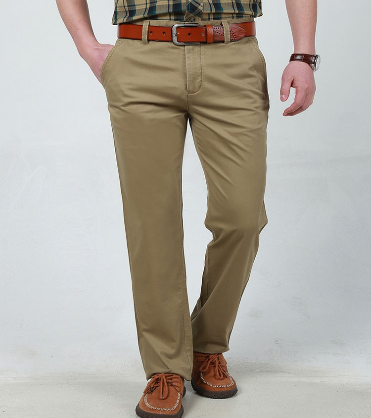 4 Colors 30-42 100% Cotton Fashion Joggers Men Casual Long Pants Men\'s Clothing Black Khaki Pants Trousers Autumn Summer Brand (11)