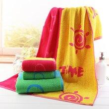 Смазливая мягкая банная полотенце для детей Дети Хлопок Добби Обычная окрашенная абсорбирующая летняя пляжная полотенца 60x120 см Ванная комната