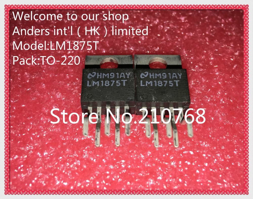 Original 10pcs Lm1875t To 220 20w Lm1875 Audio Power Amplifier Ic Using Electronic Circuits And Diagram 100 New