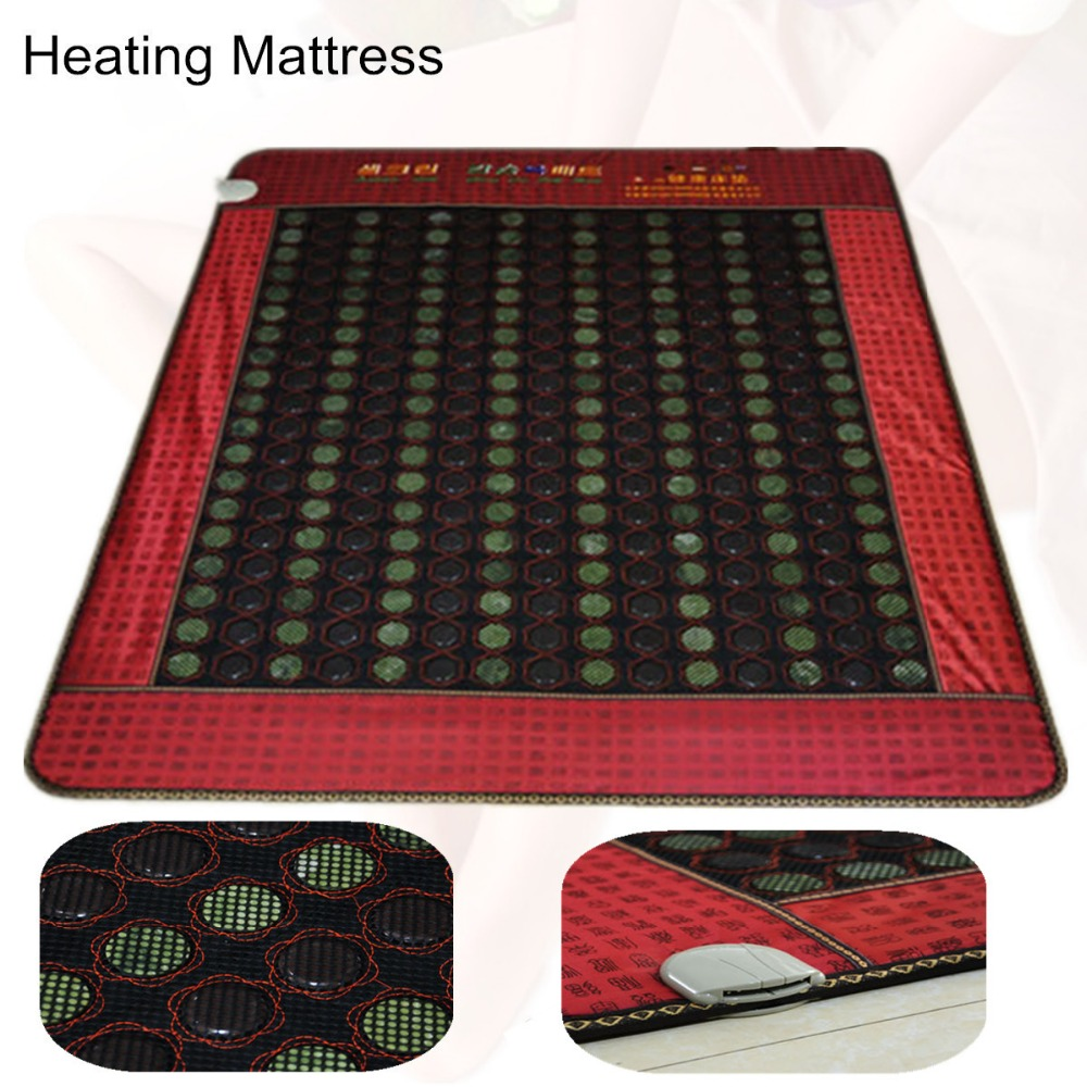 Infrared Physical Therapy Heated Health Care Cushion Natural Tourmaline Mat Heated Jade mattress with Free Gift eye cover health care product for 2017 korea heated mattress heat mat with stones jade heating jade mattresswith free gift eye cover