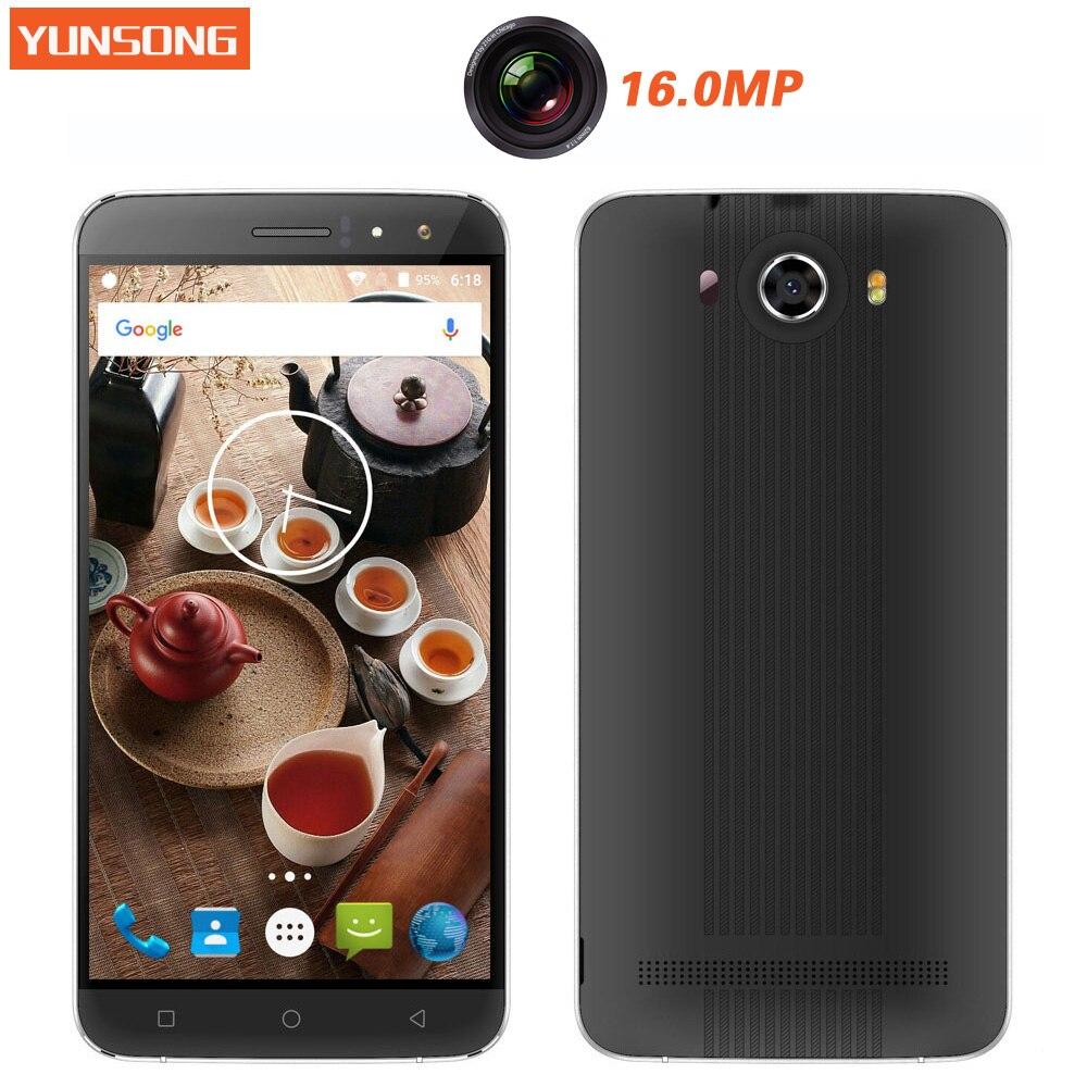 Цена за Yunsong s10 плюс 6.0 дюймов qhd экран мобильного телефона 16.0mp камера mtk6580 quad core dual sim мобильный телефон gsm/wcdma 3 г смартфон