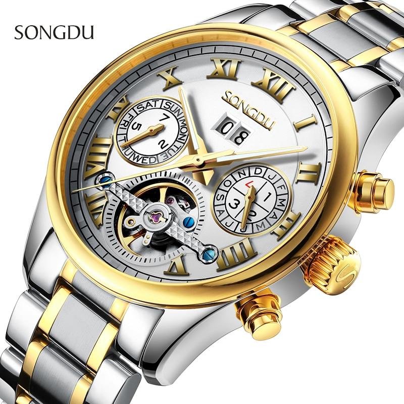 Men watch luxury brand Automatic Watch Mechanical Watches Chronograph Luminous Steel relogios masculinos military wristwatch