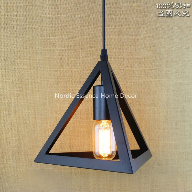 American country pastoral simplicity Creative Bar Restaurant hotel cafe personality living room hallway stairs pendant light