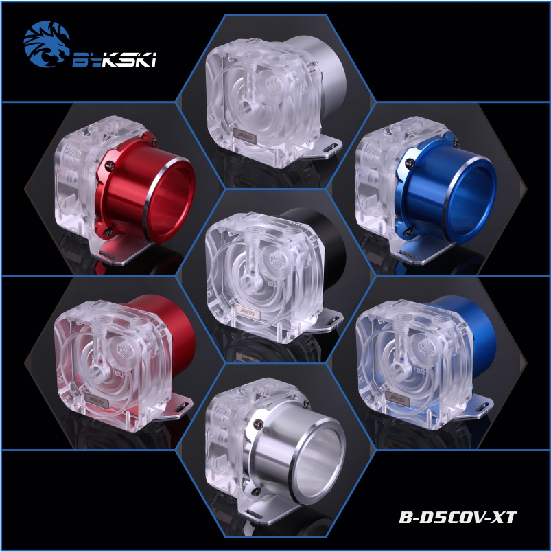 Bykski B-D5COV-XT D5 couvercle de pompe/kit supérieur, armure, haute performance, muet, pour pompe D5, remplacer le couvercle/haut d'origine