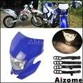 Dirt Bike фары для мотокросса обтекатель мотоцикла внедорожный синий фара для Yamaha WR250R WR250X WR250F WR450F