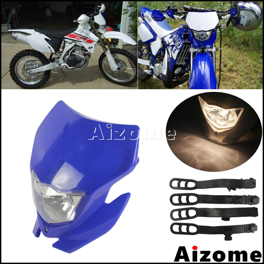 Dirt Bike Motocross Headlight Fairing Motorcycle Off Road Blue Headlight Headlamp For Yamaha WR250R WR250X WR250F WR450F
