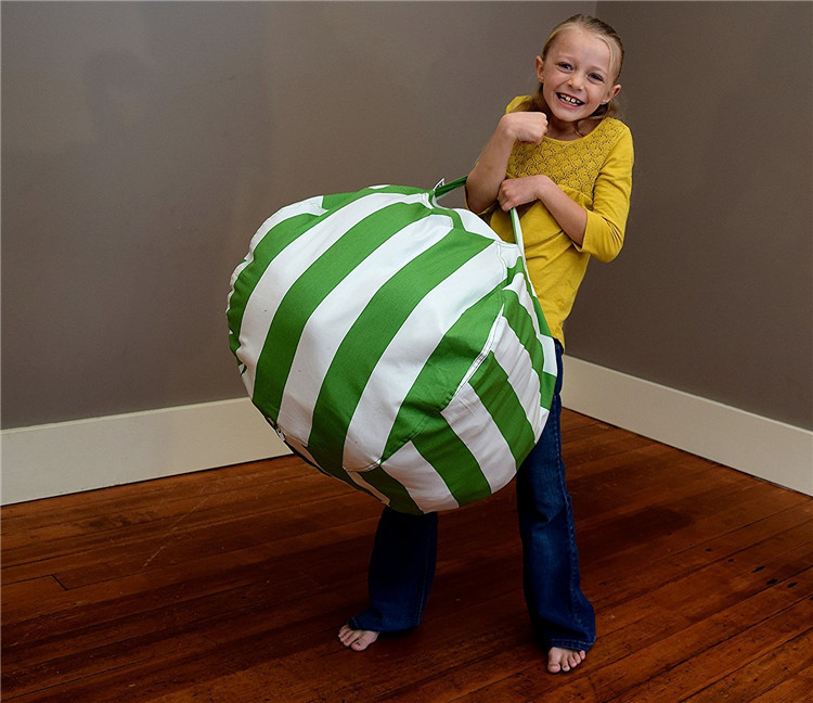 7 цветов набивная коробка животные Кресло-мешок, фасоль | Премиум детское плюшевое решение для хранения игрушек | доступно в 6 моделях - Цвет: green 24 inches