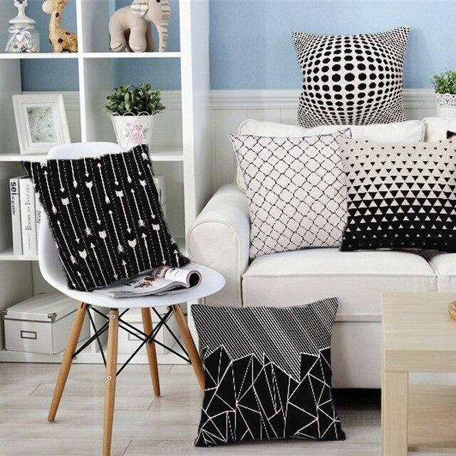 Decorativo caso cuscino di tiro cuscino della copertura della cassa in bianco e