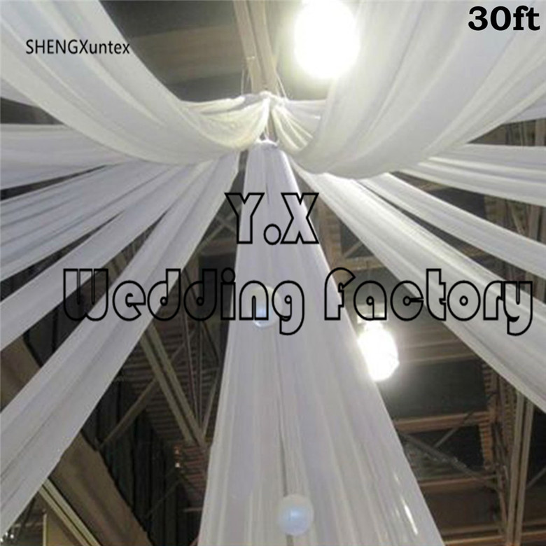 5pcs 2.2m Width Ice Silk Ceiling Drapery Fabric For Roof Wedding Event Decoration 9m long or 12m long5pcs 2.2m Width Ice Silk Ceiling Drapery Fabric For Roof Wedding Event Decoration 9m long or 12m long