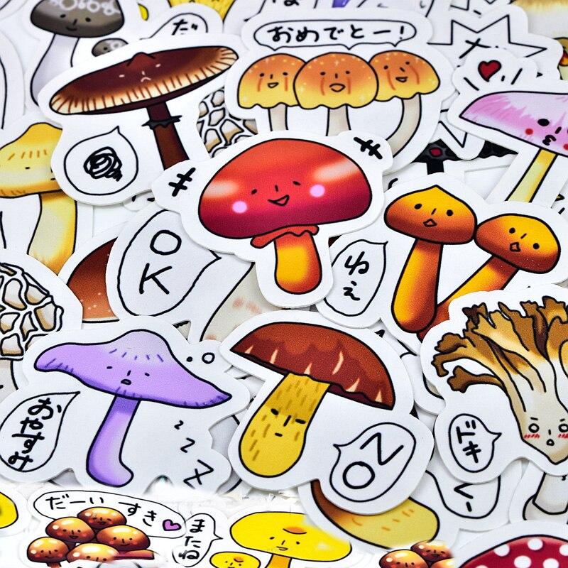 40pcs Creative Kawaii Self-made Colorful Mushrooms Stickers Beautiful Stickers /decorative Sticker /DIY Craft Photo Albums
