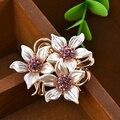 Luxury  Fashion Acrylic Rhinestone Flower Brooches Brooch Bouquet Broach For Women Dress Decorative Free shipping