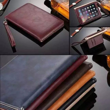 Luxury Leather Case for Apple iPad MiNi 1 2 3 Hand Holder Strap Business Book Case Cover For ipad MiNi 4 Smart Protective Cover все цены