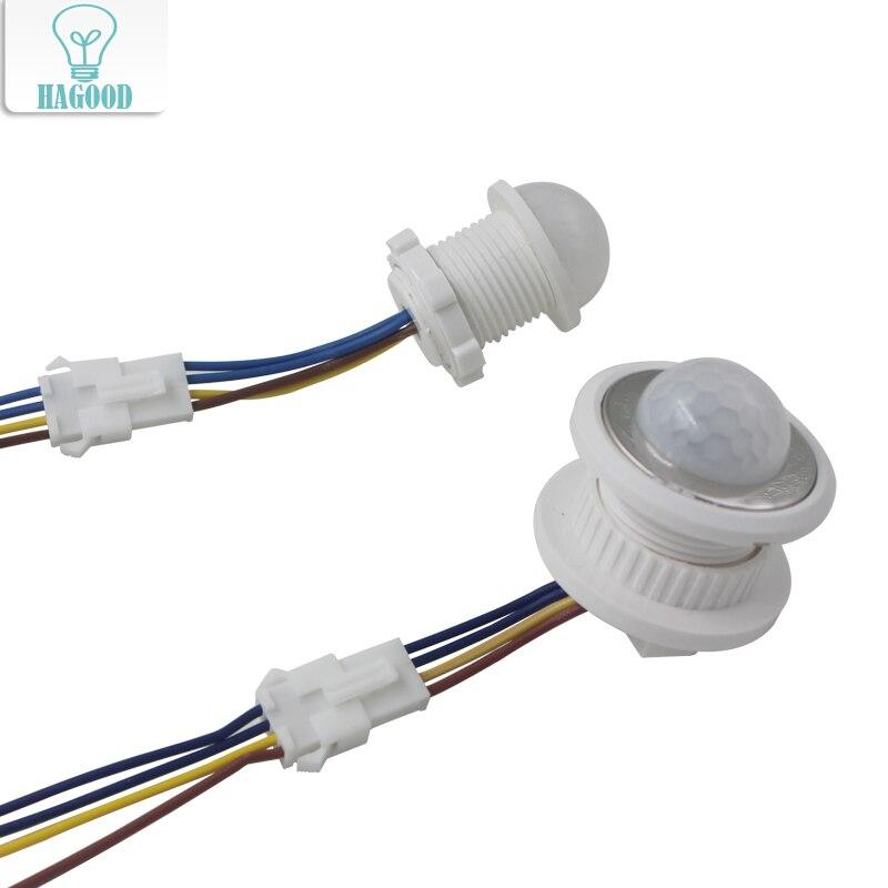 25mm 40mm PIR Human Sensor Motion 110V/220V IR Detector Infrared Switch Time Delay Adjus ...