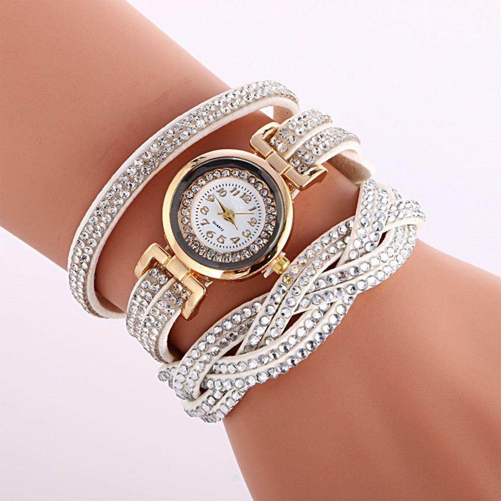GENBOLI Bracelet Watch Bangles Rhinestone Vintage Women Lady Ethnic Jewelry Strap Charm
