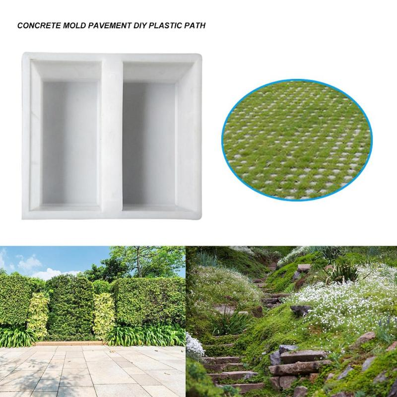 cheapest DIY Plastic Garden Path Concrete Brick Tile Mold Paving Walkway Pavement Mould Courtyard Road Pavement Stone Mold Pavement Tool