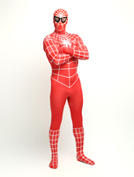 Red Yellow Purple Green Spiderman Costume 3D Printed Adult Lycra Spandex Spider Man Costume For Halloween