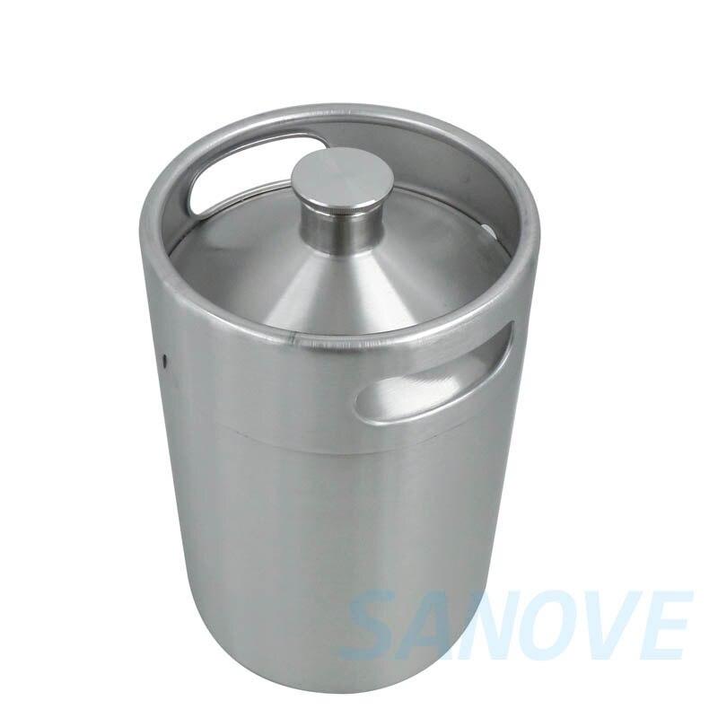 Stainless Steel Commercial Grade Mini Keg Growler 5L/170oz Unbreakable Beer Growlers