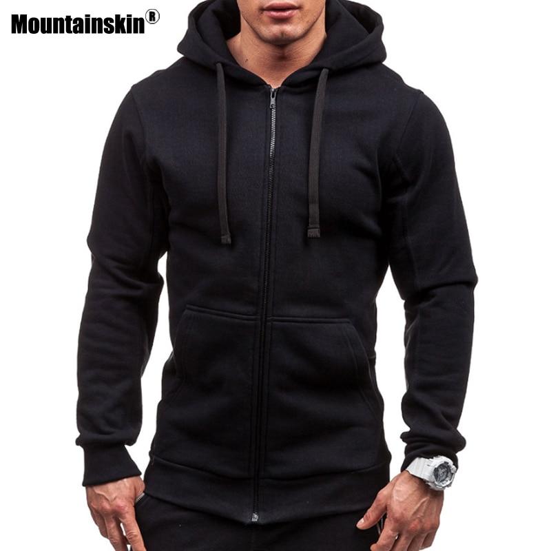 Mountainskin Men's Hoodies Autumn Jacket Tracksuit Outwear Hooded Coat Male Long Sleeve Sweatshirt Casual Slim Sportswear SA573