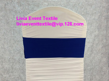 100pcs #29 Royal BLue Spandex Chair Band,Double Layer Lycra Chair  Band For Chair Cover &Wedding Events &Party Decoration