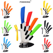 colorful 3 4 5 6 inch holder peeler kitchen ceramic knife sets chefs porcelain Zirconia ceramic knives stand for cooking