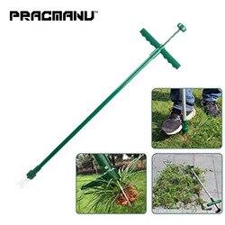 Pracmanu levanta-se weeder e extrator de ervas daninhas suporte manual ferramenta de mão com 3 garras de aço inoxidável extrator de ervas daninhas