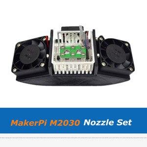 Image 2 - MakerPi M2030X 3D yazıcı ekstruder parçaları iki in one 0.4mm memesi seti Mix renk baskı