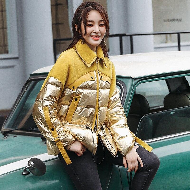 Cuir Naturel Manteau Femmes green Laine Hiver Automne Fourrure Blue gold Vêtements Peau De Coréen black 2018 Zt1329 Veste Réel Mouton Véritable En IH9EWD2
