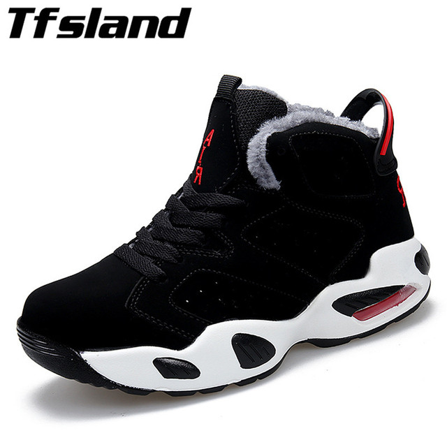promo code 272b0 29c37 Plush Warm Winter Basketball Shoes Zapatillas Jordan Shoes Men Hombre Soft  Training Athletic Women Sneakers Outdoor