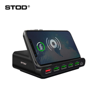 STOD Qi Wireless Charger USB Charging Staition 60W Quick Charge 3.0 Holder For iPhone X Samsung Huawei Nexus Mi USB C AC Adapter