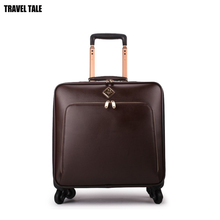 """Travel tale 1"""" 20"""" 22 дюймов Мужская винтажная кожаная сумка для ручной клади Спиннер ручной клади чемодан на колесиках"""