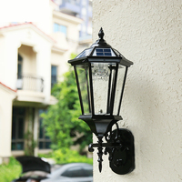Открытый Солнечный свет настенный светильник светодиодный открытый солнечный светильник Настенный светильник водонепроницаемый Сад Ретр