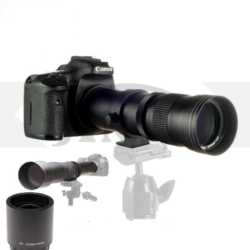 JINTU 420-1600mm F/8.3-16 Téléobjectif Zoom 2X Téléconvertisseur pour EF de Canon EOS 80D 70D 60D 60Da 50D 7D 6D 5D 5Ds T6s T6i T6