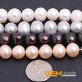 """Perla: 9-10mm Perla Natural de Agua Dulce Perlas Sueltas DIY Para La Joyería Que Hace Beads Strand 15 """"al por mayor!"""