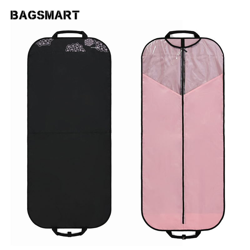 "BAGSMART Travel Carry On Garment Bag For Women Waterproof Lightweight Foldable Dress Bag 54"" Suit Cover For Suits Coats Fashion"