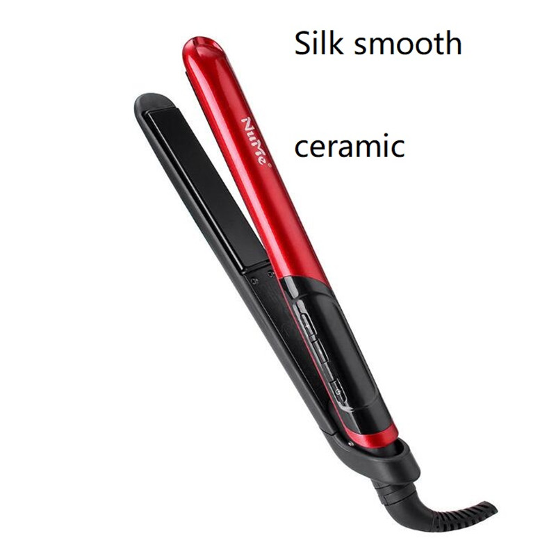 Îndepărtarea profesională a părului electric cu căldură rapidă de fier Mătase ceramică netedă cu franjuri Waver Curling Flat Straight Wand Hairstyler