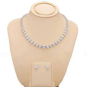 GODKI женский роскошный набор ювелирных изделий, ожерелье и серьги с фианитом