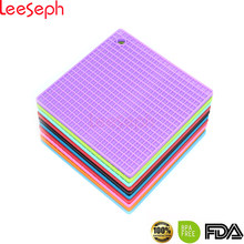 7-inch silicone pot titular, esteira trivet, abridor de frasco, colher resto antiderrapante, flexível, durável, resistente ao calor almofadas quentes mais grossas