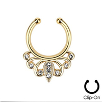 Belly Button Rings Body Jewelry Ear Plugs 2015 New Fake Nose Ring Lot Clip On Septum