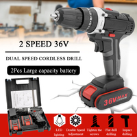 Professional 36V Electric Impact Cordless Drill 1/2 Li ion Battery Wireless Rechargeable Home DIY Electric Power Tool