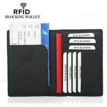 Unisex RFID Blocking Passport Holder Protector Wallet Business Card Cash Cover недорого