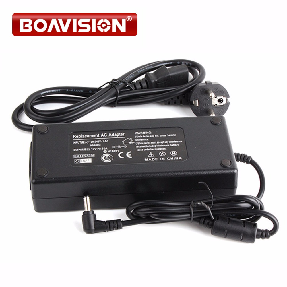 цена на For Led Strip Or LCD Monitor CCTV Camera Connector AC 110-240V Input US/EU/AU/UK Plug DC 12V 10A 120W Output Power Adapter